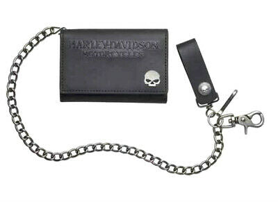Men's Skull Medallion Tall Biker Wallet