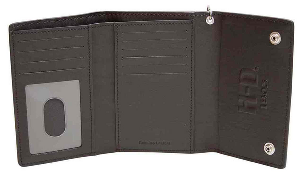 Men's Trifold Wallet, Embossed Bar & Shield
