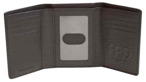Men's Bar & Shield Classic Trifold Wallet - Black