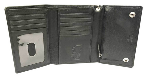Men's Currency & Coin Biker Tri-Fold Medium Wallet