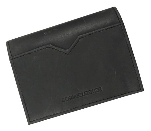 Men's B&S Logo Click Card Case Leather Wallet