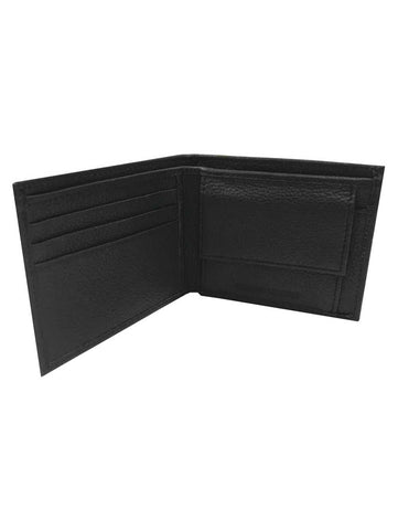Mens B&S Embossed Pocketed Billfold Leather Wallet