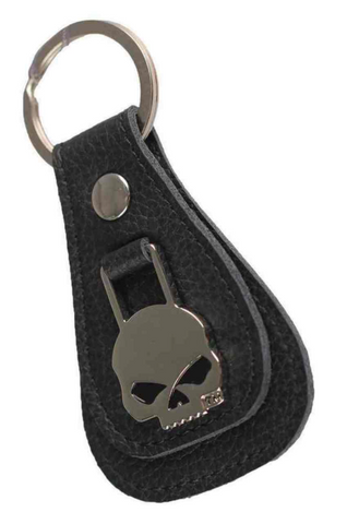 Willie G Skull Medallion Teardrop Key Chain