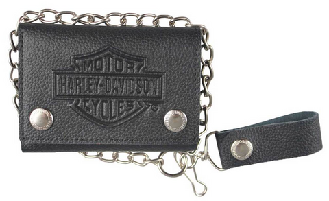 Men's Embossed B&S Logo Medium Trucker Wallet