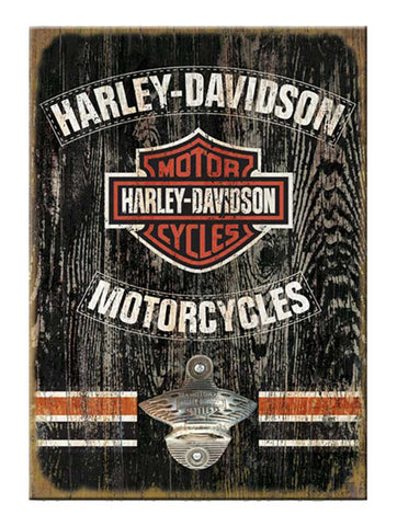 Harley-Davidson 11 x 16 Matchbook Bottle Opener Wooden Sign