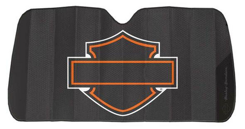 Bar & Shield Logo Accordion Auto Sunshade - Matte Black
