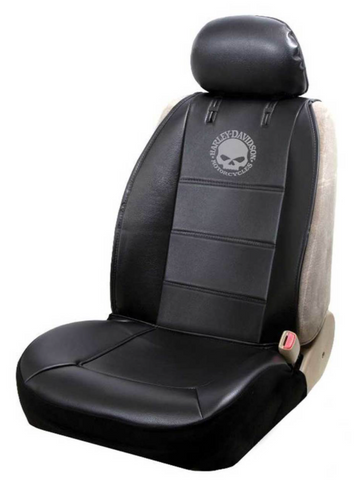 Willie G. Skull Logo Sideless Seat Cover Black