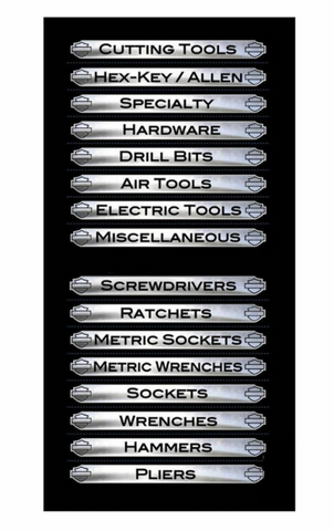 Harley-Davidson Magnetix Toolbox Identification Magnets - 16 Pack