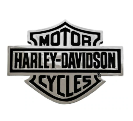 Bar & Shield Chrome Injection Molded Emblem