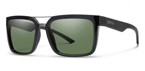 Smith Highwire Sunglasses - Black/Polarized Gray Green