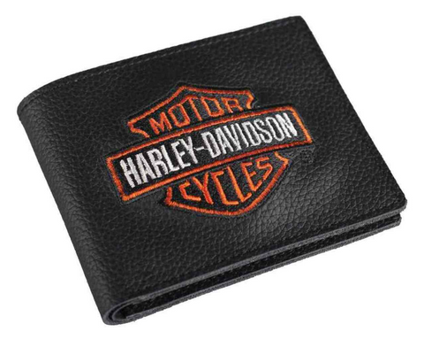 Men's Embroidered Bar & Shield Billfold Wallet