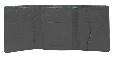 Men's Embroidered Bar & Shield Tri-Fold Wallet