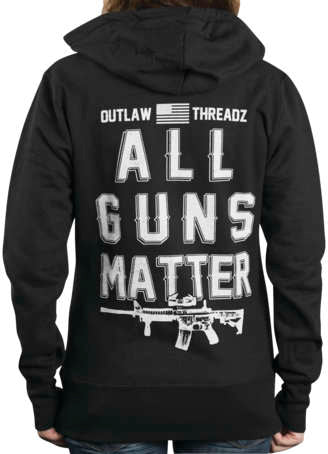 Outlaw Threadz Women's All Guns Matter Hoody