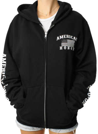 Outlaw Threadz Women's American Honor Zip Hoody