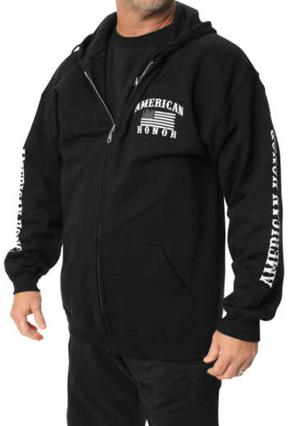 Outlaw Threadz Men's American Honor Zip Hoody