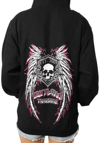 Outlaw Threadz Women's Angel Zip Hoody