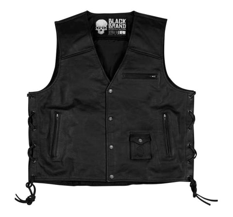 Black Brand Men's Axe Leather Vest