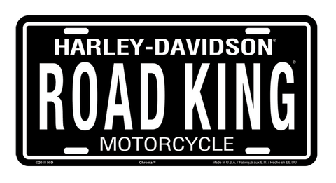 Road King Stamped Metal Tag License Plate