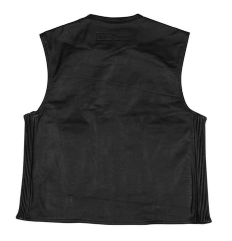 Black Brand Men's Dagger Leather Vest