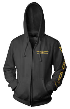Honda Official Licensed Products Men's Gold Wing Corporate Logo Zip Hoody