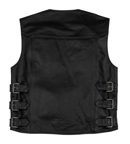 Black Brand Men's Guardian Leather Vest