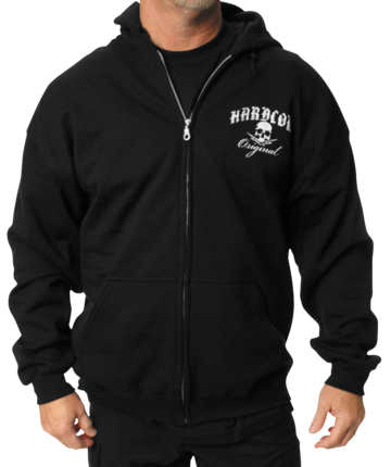 Outlaw Threadz Men's Hardcore Original Zip Hoody