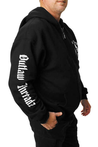 Outlaw Threadz Men's Original Outlaw Zip Hoody