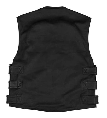 Black Brand Men's Pinion Leather Vest
