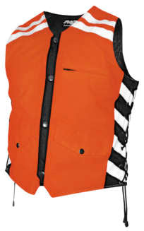 Missing Link Men's G2 D.O.C. Reversible Leather and Hi-Vis Safety Vest