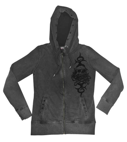 Lethal Threat Women's Skull and Crossbones Hoody