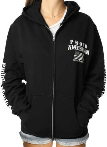 Outlaw Threadz Women's Support Zip Hoody