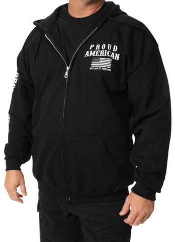Outlaw Threadz Men's Support Zip Hoody