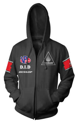 Honda Official Licensed Products Men's Racing Team Zip Hoody