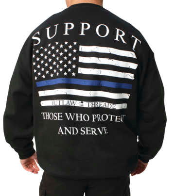 Outlaw Threadz Men's Thin Blue Line Sweatshirt