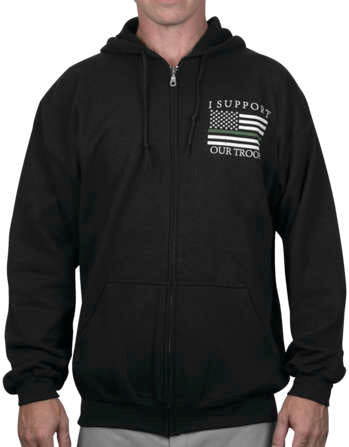 Outlaw Threadz Men's Thin Green Line Hoody