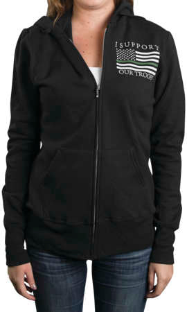 Outlaw Threadz Women's Thin Green Line Hoody