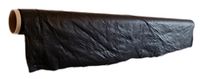 A roll of black biodegradable agricultural mulch