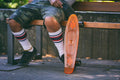 Patineta Skate Clear Orange