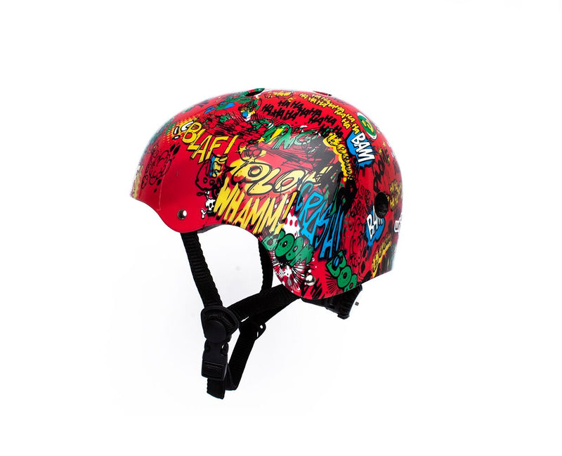 Casco Niño con Luz Rojo On wheels