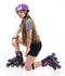 Patines En Linea Fitness Adulto Negro/ Morado 150GP-Hook