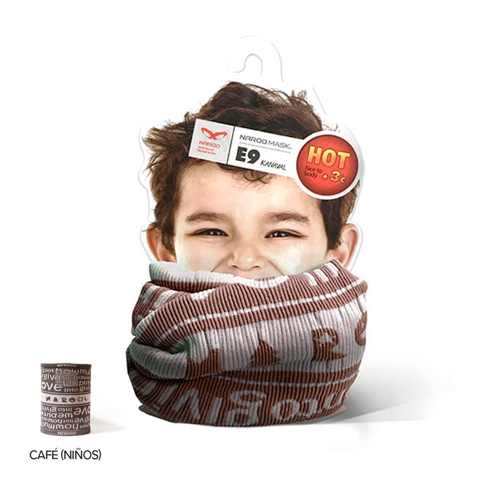 Bandana De Invierno Kids Reversible E9 -Brown