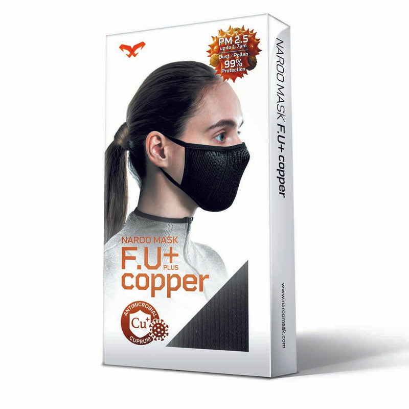 Máscara Filtrante Antimicrobiana Lavable Fu+ Copper- Gris S