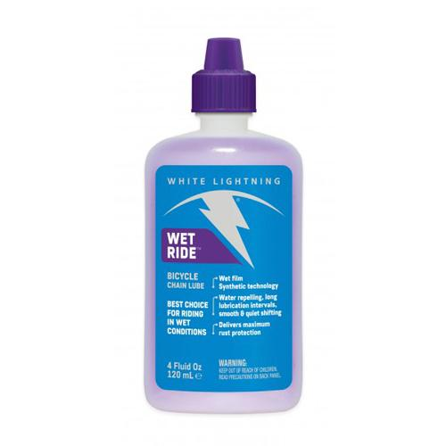 "Lubricantes para cadenas White Lightning ""Wet Ride"" 120ML"