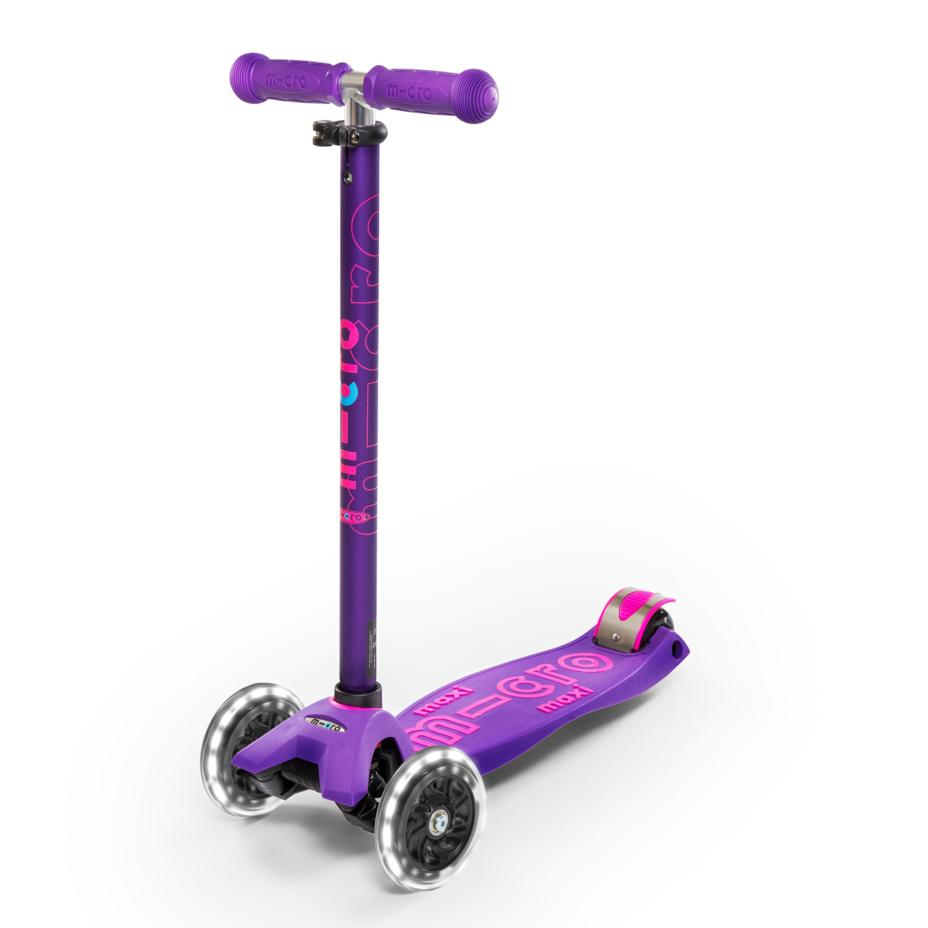 Scooter Maxi Deluxe LED Morado