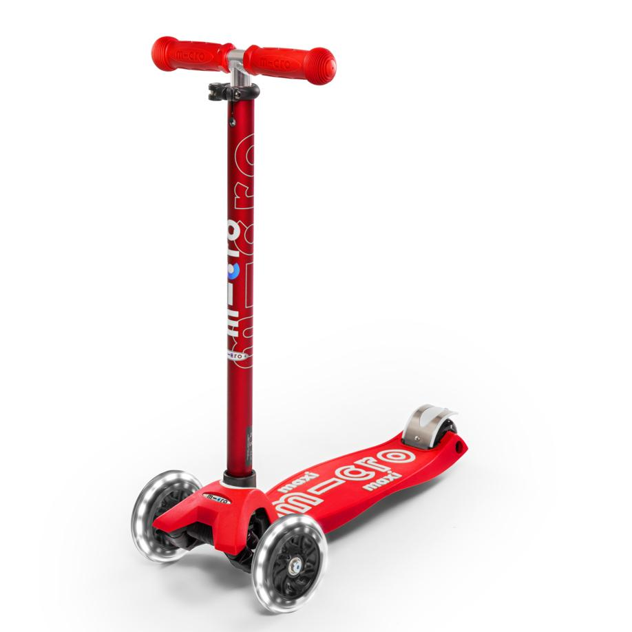 Scooter Maxi Deluxe LED Rojo