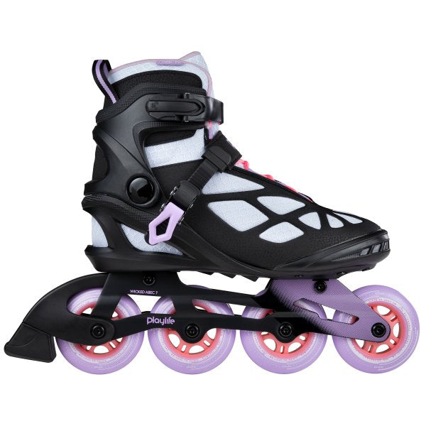 Patines Playlife Lancer White 84 Fitness Mujer