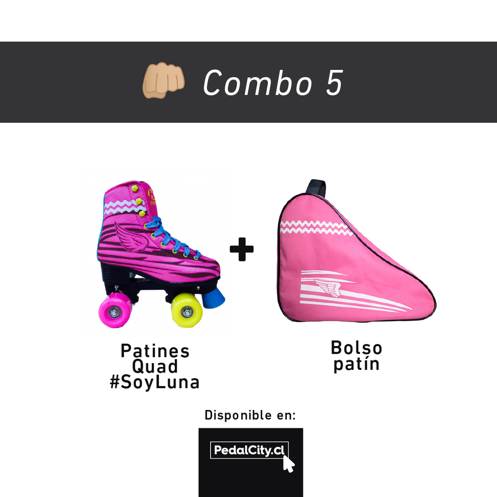 Combo Patines y Bolso Soy Luna.