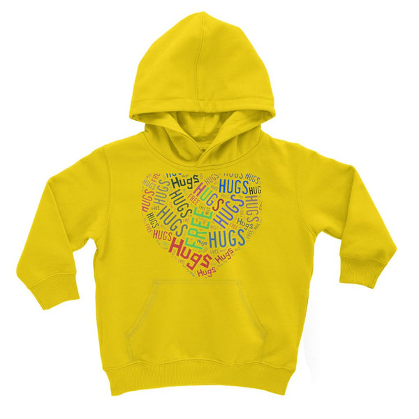 Hugs Tag Cloud - Darker print Kids' Hoodie
