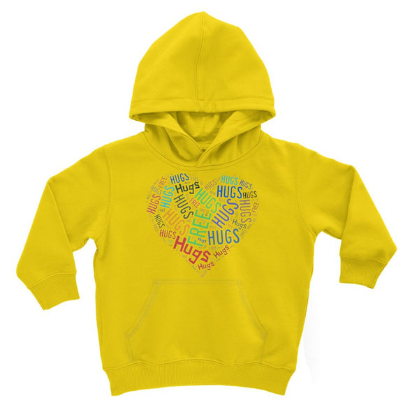 Hugs Tag Cloud Focused - Dark Kids' Hoodie