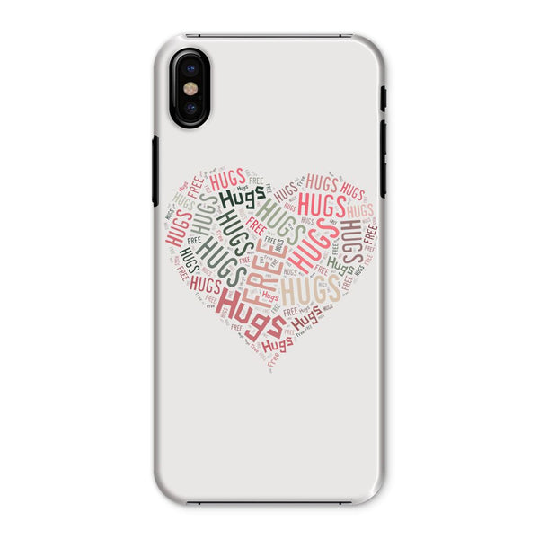 Hugs Tag Cloud - Pink Phone Case